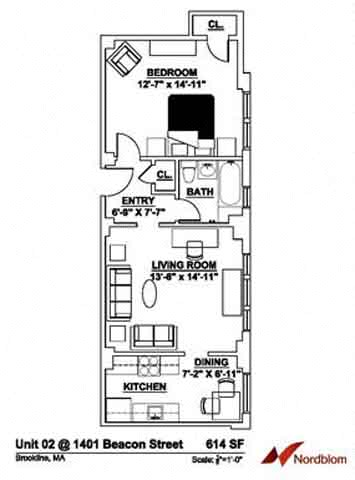 Floor plan at The Regent, Massachusetts, 02446