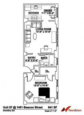 Floor plan at The Regent, Brookline, 02446