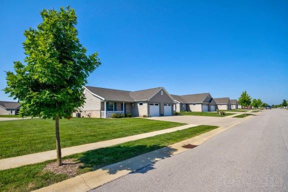 Aspen duplex street view  at Hawthorne Properties, Indiana, 47905