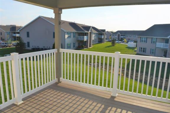 Cedar Balcony/Patio at Hawthorne Properties, Lafayette, Indiana