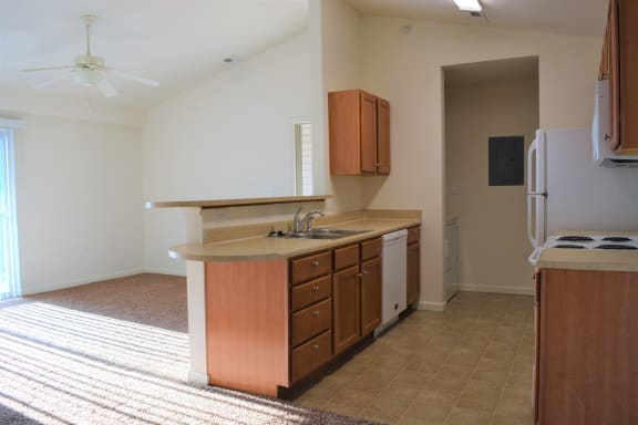Cedar Kitchen and Living Room at Hawthorne Properties, Indiana