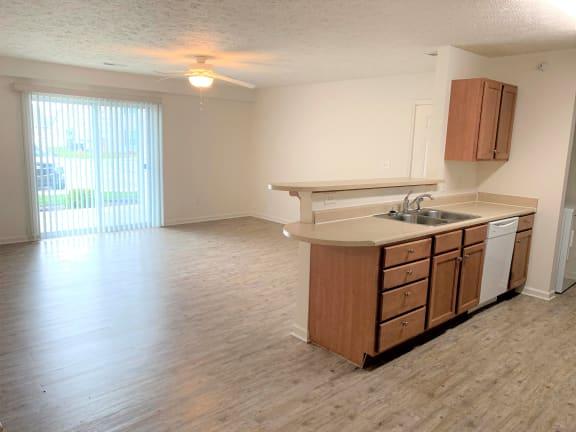 Cypress 2x2 apt with Vinyl Plank Floor Upgrade at Hawthorne Properties, Lafayette, 47905