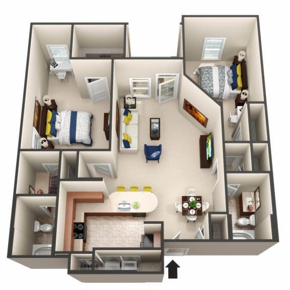 The Adriatic floor plan 3D image