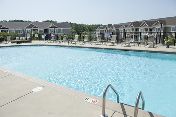 Sparkling Pool at The Enclave at Pamalee Square Apartments, Fayetteville, NC,28301