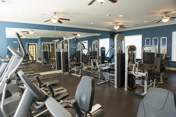 State-of-the-Art Fitness Center at The Enclave at Pamalee Square Apartments, Fayetteville, NC,28301