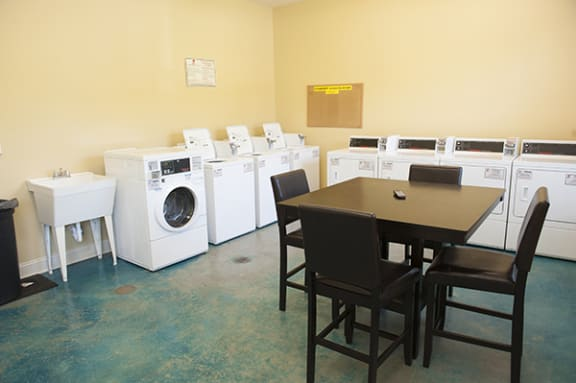 Laundry Room at The Enclave at Pamalee Square Apartments, Fayetteville, NC,28301