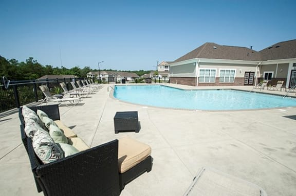 Swimming Pool with Sundeck at The Enclave at Pamalee Square Apartments