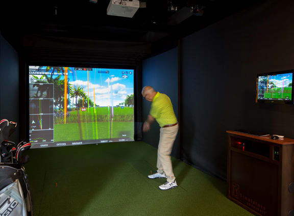 Golf Simulator at Aurora, Maryland