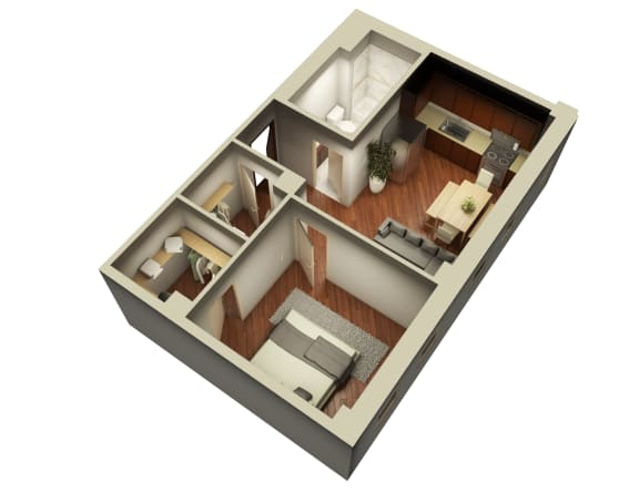 Turnkey One Bedroom Floor Plan at Somerset Place Apartments, Chicago, IL