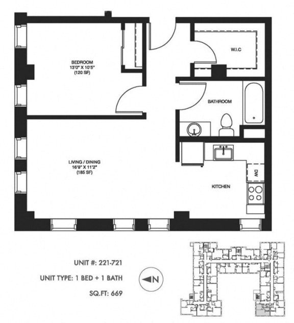 Unit image at Somerset Place Apartments, Chicago, 60640