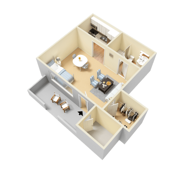Pullen Floor Plan at Clarion Crossing Apartments in West Raleigh NC