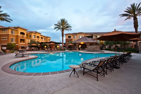 Apts in North Las Vegas with Resort-Style Swimming Pool with Cabanas