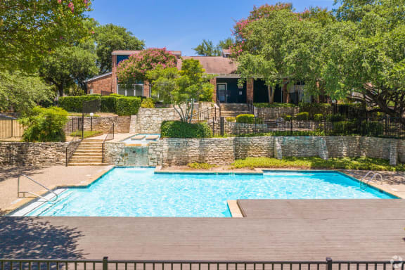 Crystal Clear Swimming Pool at Sunset Canyon Apartments,CLEAR Property Management, San Antonio, TX, 78232