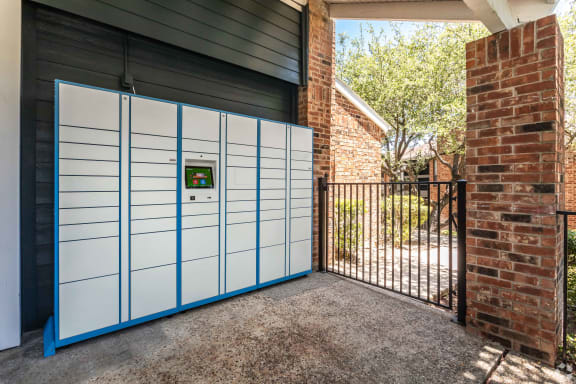 Luxor Package Locker at Sunset Canyon Apartments, CLEAR Property Management, San Antonio