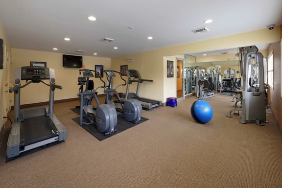 Fully Equipped Fitness Center at McDonogh Township Apartments, Owings Mills, MD