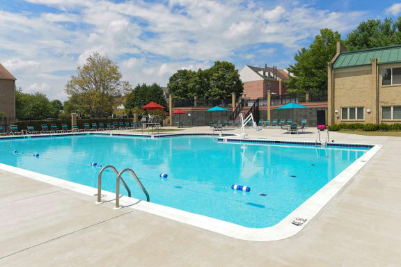 Resort-Style Zero-Entry Pool at McDonogh Township Apartments, Owings Mills, MD