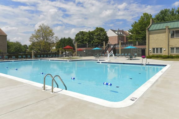 Sparkling Swimming Pool at McDonogh Township Apartments, Owings Mills, MD, 21117
