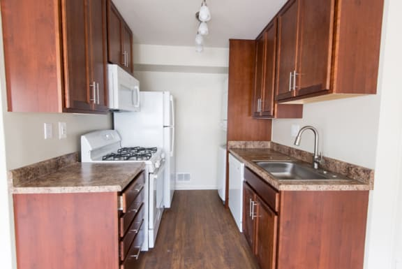Updated kitchens at Falls Village, Maryland, 21209