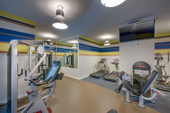 Fully Equipped Fitness Center at Woodbury Park at Courthouse, Arlington, 22201