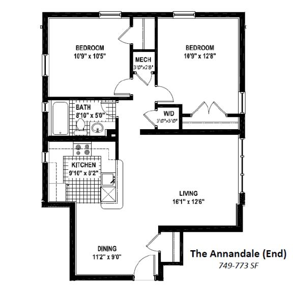 Floor plan at Woodbury Park at Courthouse, Arlington