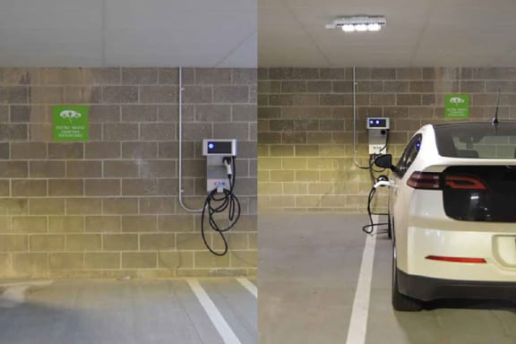 EV Charging Stations, Hot Metal Flats apartments, Pittsburgh, PA