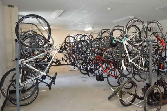 On-site Bike Storage, Hot Metal Flats apartments, Pittsburgh, PA
