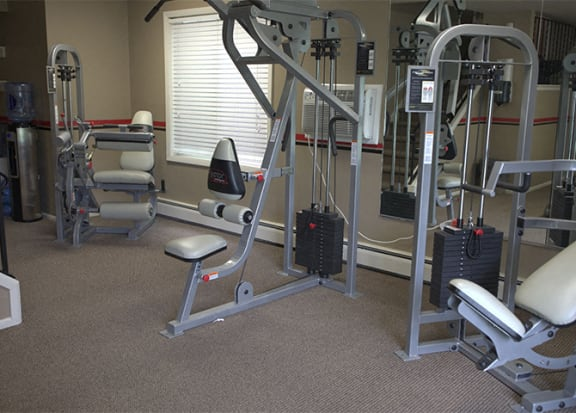 Fully Equipped Fitness Center at Woodmere Townhomes, Wisconsin, 53012