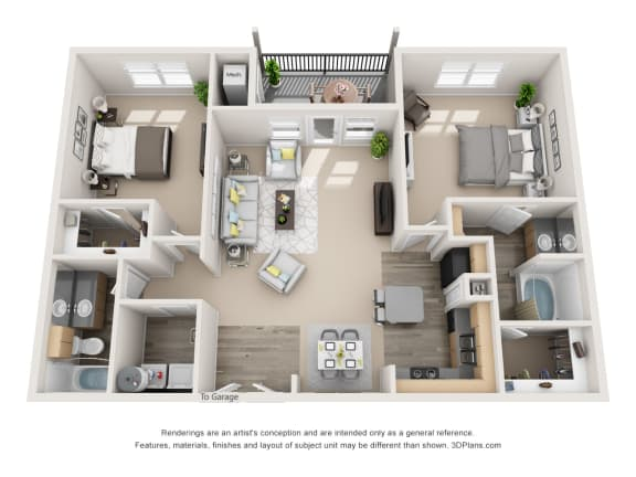 Floor Plan  Majestic with 1 car Garage