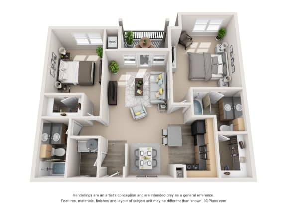 Floor Plan  Imperial with 1 Car Garage