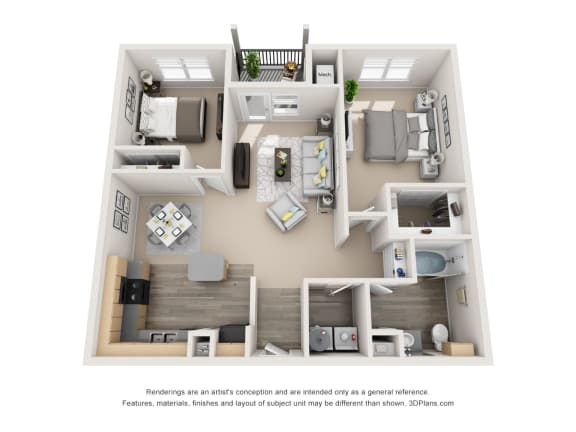 Floor Plan  Noble with 1 car Garage