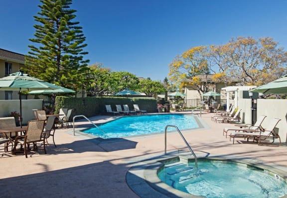 Hot Tub And Swimming Pool at Encina Meadows, Goleta