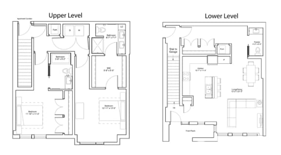 Floor Plan  Vintage on Selby Apartments