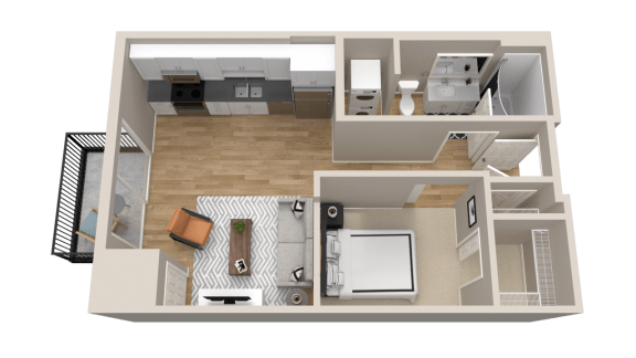 Vintage on Selby Apartments Studio Apartment Layout
