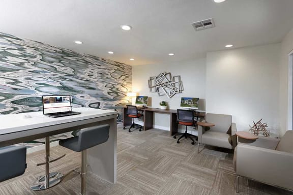 Newly Renovated Business Center at The Verandas Apartments, 200 N. Grand Avenue, West Covina