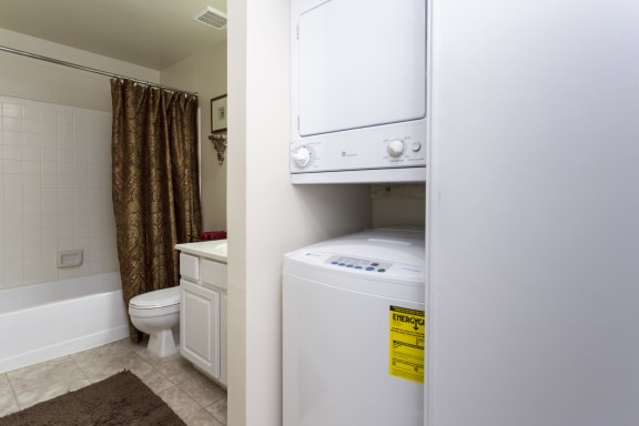 in-unit washer and dryer set at The Birches in Silver Spring, White Oaks Maryland 20904