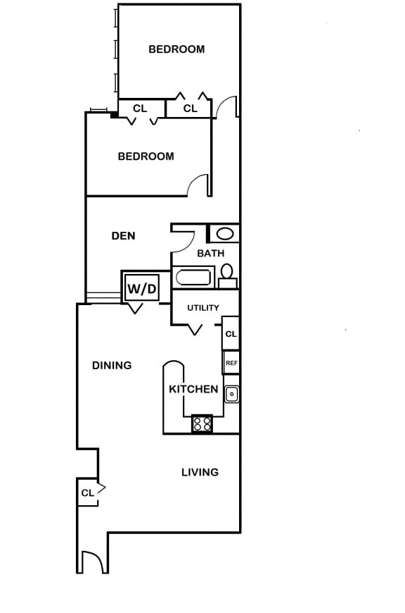 2 Bedroom with Den