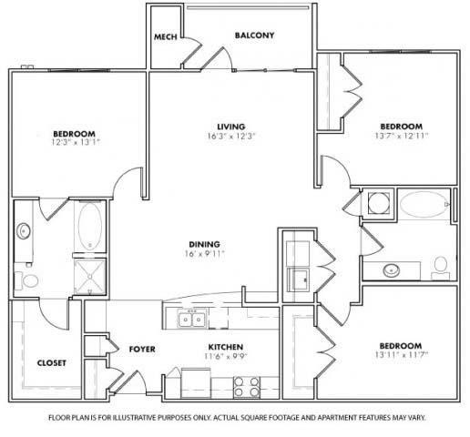 Floor Plan  Floorplan at Windsor at Glenridge, 305 5610 Glenridge Drive,Sandy Springs, 30342, opens a dialog