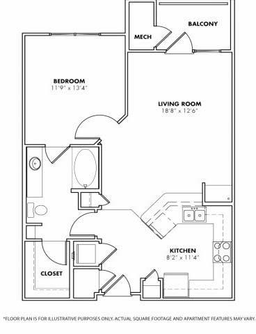 Floor Plan  Floorplan at Windsor at Glenridge, 305 5610 Glenridge Drive,Sandy Springs, opens a dialog