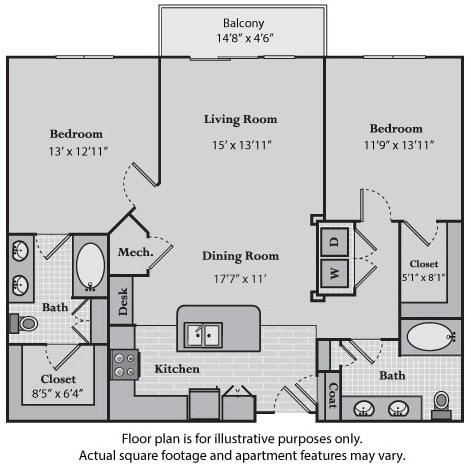 Floor Plan  Delancy at Windsor at Brookhaven, GA, opens a dialog