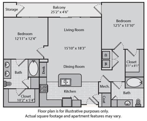 Floor Plan  Sullivan at Windsor at Brookhaven, 305 Brookhaven Ave., Atlanta, opens a dialog