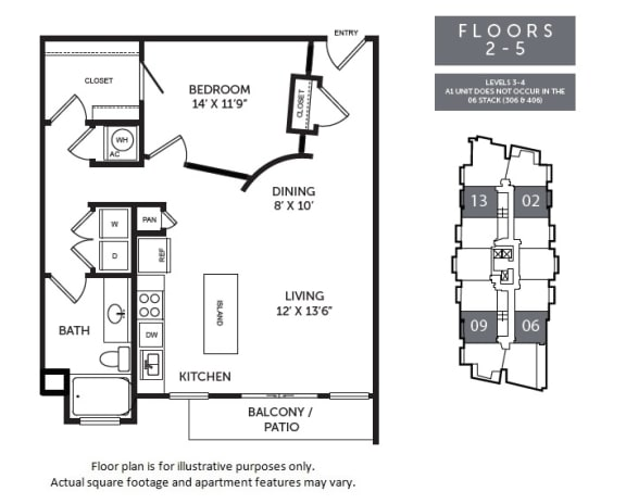 Floor Plan  New Monarch A1C floor plan at The Monarch by Windsor, TX, 78703