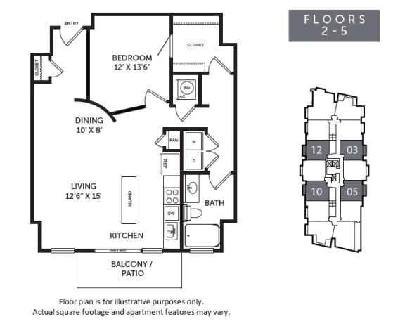Floor Plan  New Monarch A2R floor plan at The Monarch by Windsor, Austin, Texas