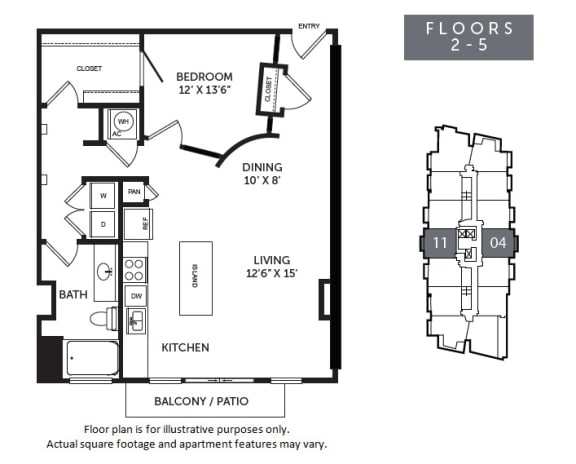 Floor Plan  New Monarch A3R floor plan at The Monarch by Windsor, Austin, TX
