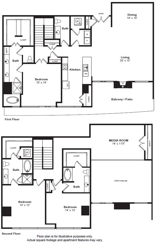 Floor Plan  Floorplan at THE MONARCH BY WINDSOR, 801 West Fifth Street, Austin, 78703