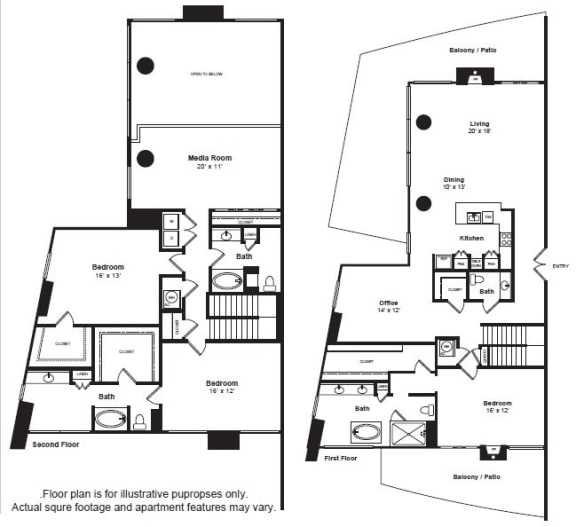 Floor Plan  Penthouse 5 floor plan at The Monarch by Windsor, 801 West Fifth Street, 78703