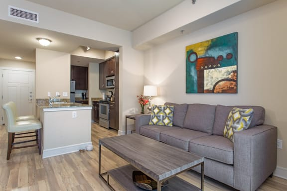 Gorgeous Parquet Wood Flooring  at Windsor on the Lake, 43 Rainey Street, Austin, 78701