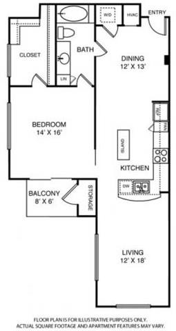 Floor Plan  Floorplan at Windsor on the Lake, 43 Rainey Street, Austin, TX 78701