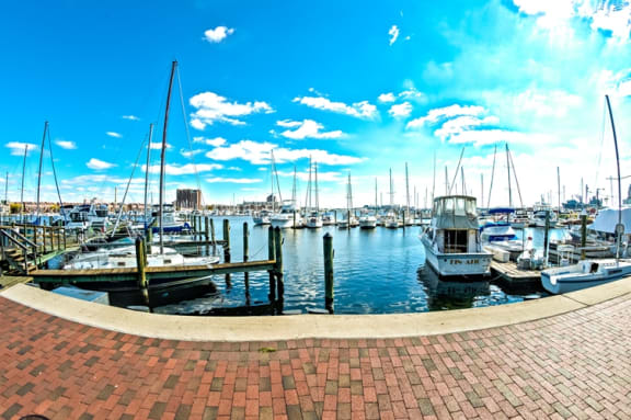 Pedestrian Access To The Promenade Harborwalk at Crescent at Fells Point by Windsor, 951 Fell Street, Baltimore, MD 21231