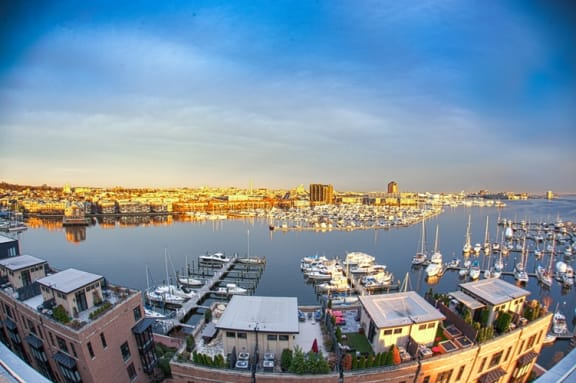 Harbor Front Marina With 52 Boat Slips at Crescent at Fells Point by Windsor, 951 Fell Street, Baltimore, MD 21231