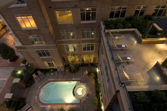 Heated Pool with Sun Deck at Crescent at Fells Point by Windsor, 951 Fell Street, Baltimore, MD 21231